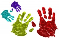 Paint handprints